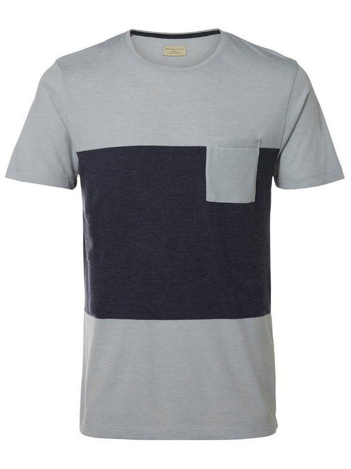 Selected O-Ausschnitt- T-Shirt in Pearl Blue