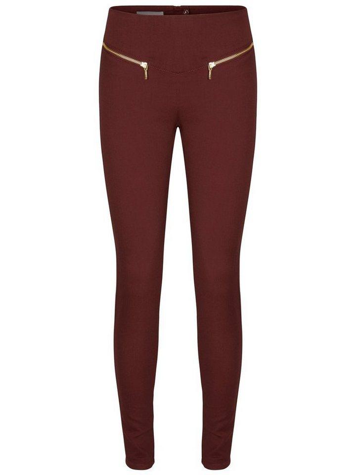 Vero Moda Geller HW Leggings in Decadent Chocolate