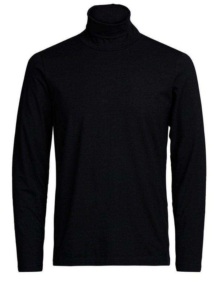 Jack & Jones Pima-Baumwoll- T-Shirt mit langen Ärmeln in Black