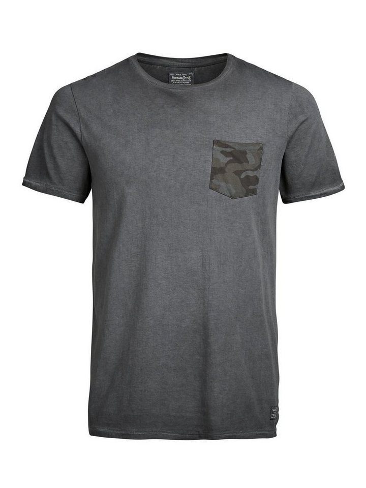 Jack & Jones Militär-inspiriertes T-Shirt in Caviar