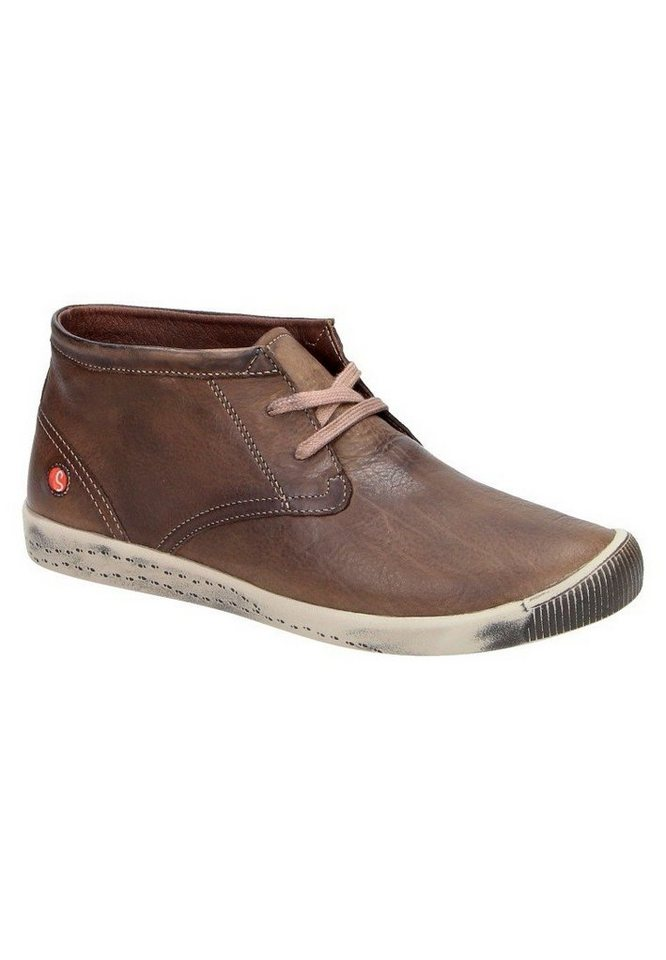 softinos Sneaker high »Indira washed leather HW16« in dunkelbraun