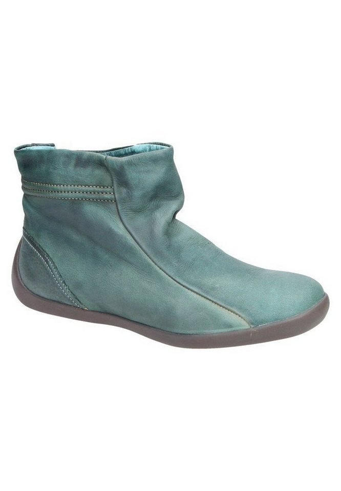 softinos klassische Stiefelette »NEA341SOF washed leather« in petrol/türkis