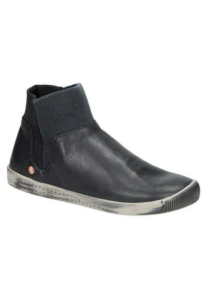 softinos klassische Stiefelette »IME335SOF smooth leather« in schwarz