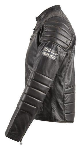Pepe Jeans Jacke 'PAUL' Jacke aus Ziegenleder schwarz