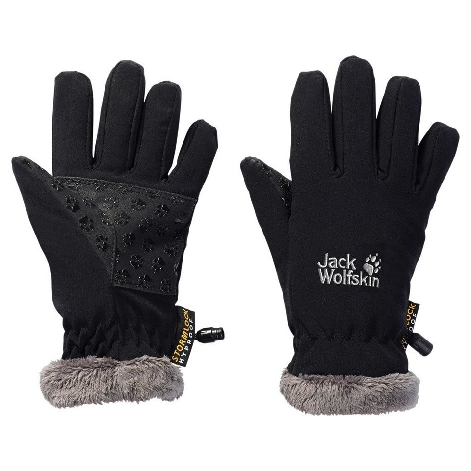 Jack Wolfskin Fingerhandschuhe »SOFTSHELL HIGHLOFT GLOVE KIDS« in black