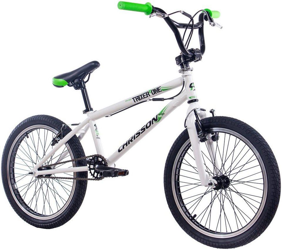 BMX »CHRISSON BMX TRIXER ONE«, 20 Zoll, 1 Gang, V-Bremsen in weiß