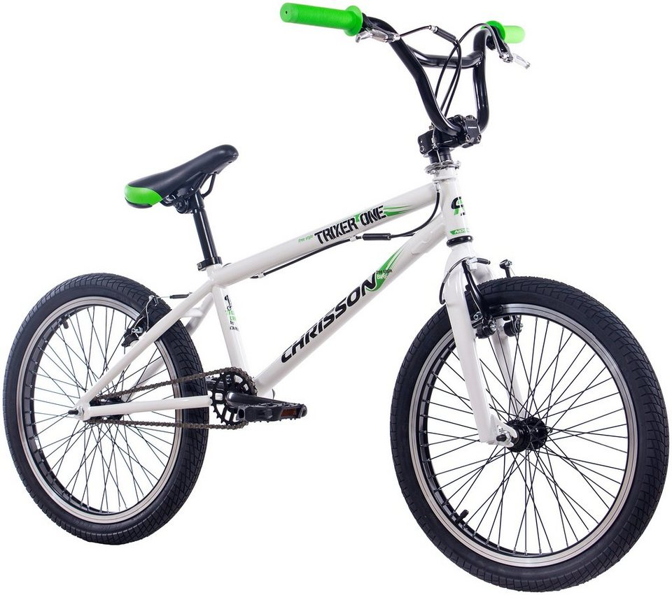 Chrisson BMX »CHRISSON BMX TRIXER ONE«, 20 Zoll, 1 Gang, V-Bremsen in weiß
