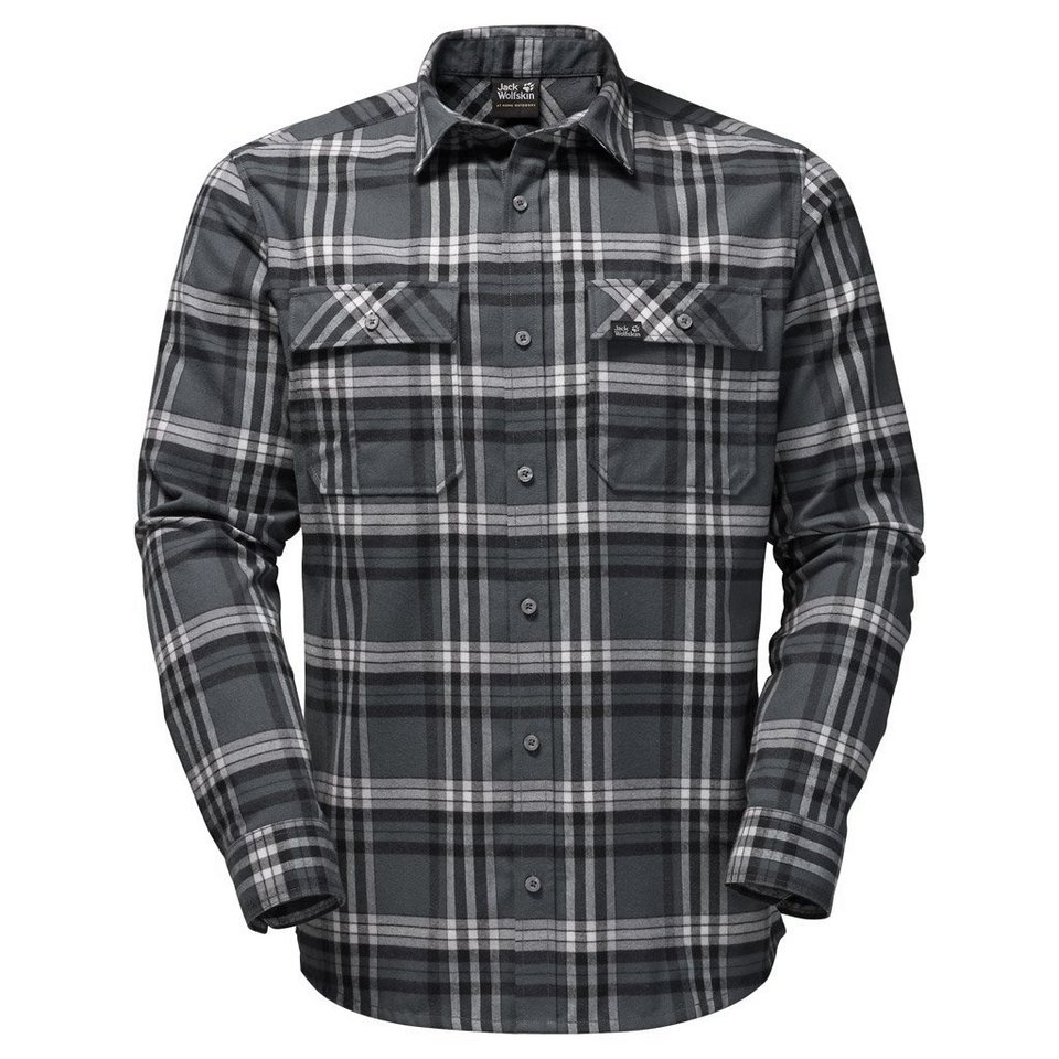 Jack Wolfskin Outdoorhemd »VALLEY SHIRT MEN« in dark iron checks