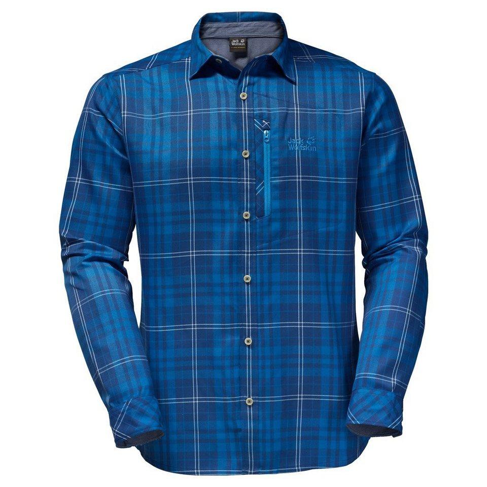 Jack Wolfskin Outdoorhemd »CHURCHILL SHIRT« in deep sea blue checks