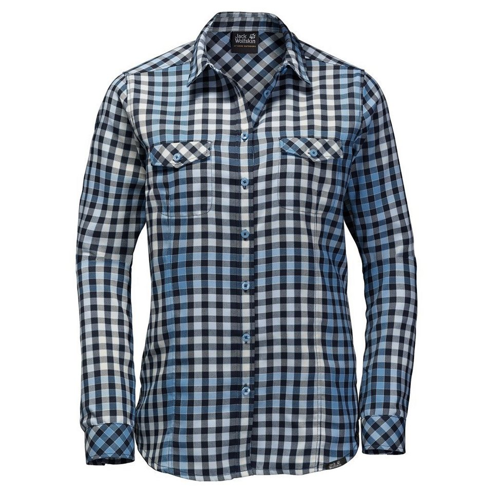Jack Wolfskin Outdoorbluse »VALLEY SHIRT WOMEN« in light sky checks