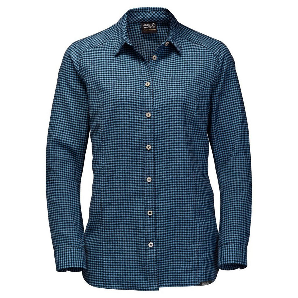 Jack Wolfskin Outdoorbluse »SHORE LINE SHIRT« in night blue checks