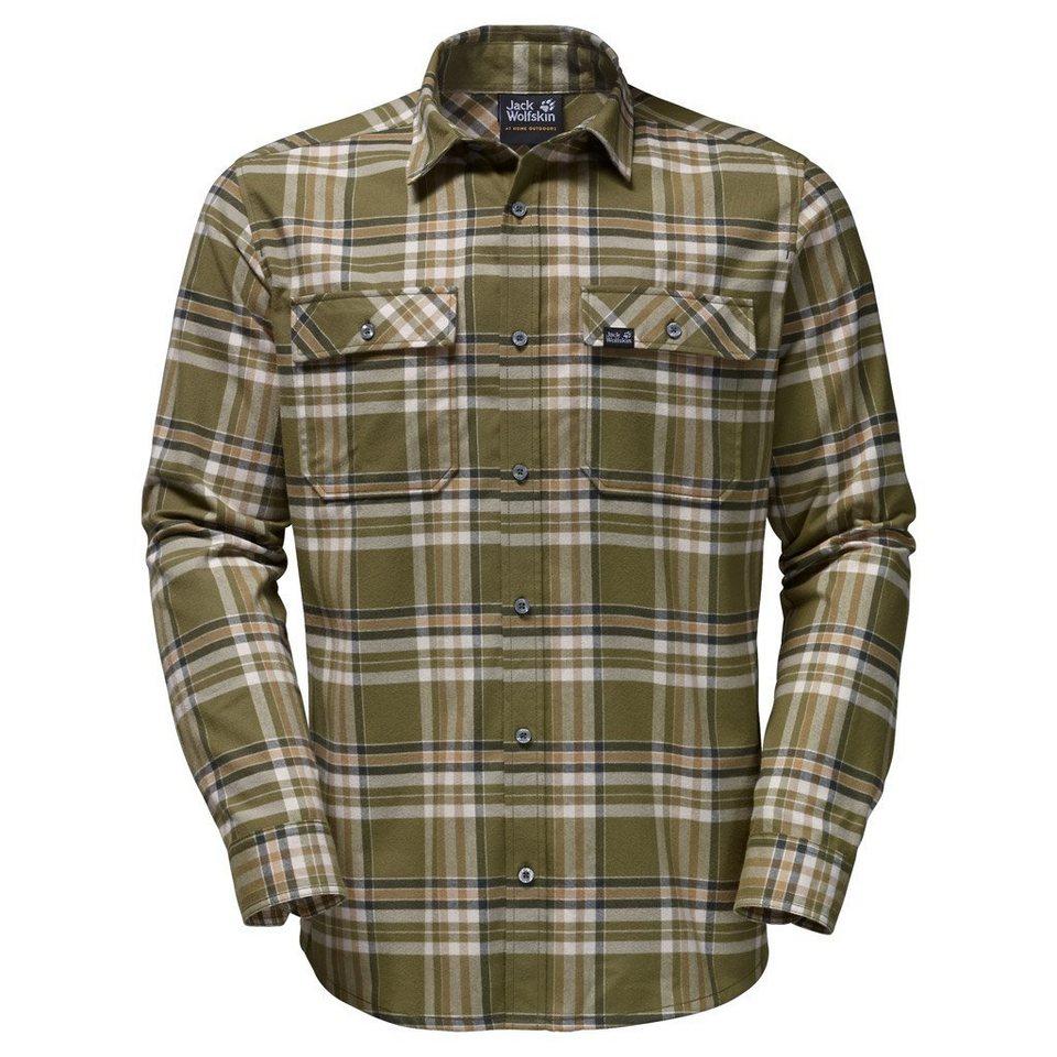 Jack Wolfskin Outdoorhemd »VALLEY SHIRT MEN« in burnt olive checks