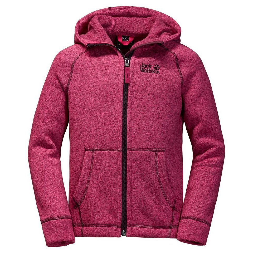 Jack Wolfskin Fleecejacke »CARIBOU LODGE KIDS« in pink raspberry