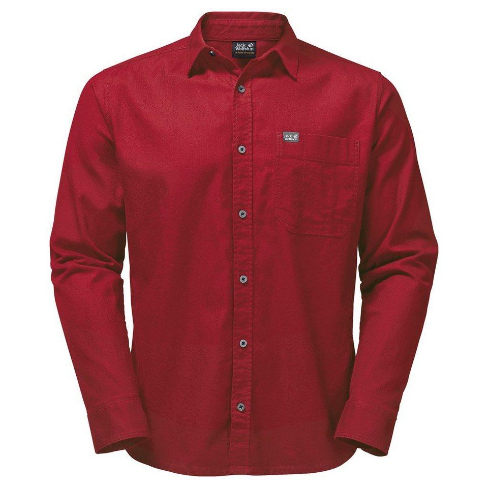 Jack Wolfskin Outdoorhemd »RIVER SHIRT« in indian red