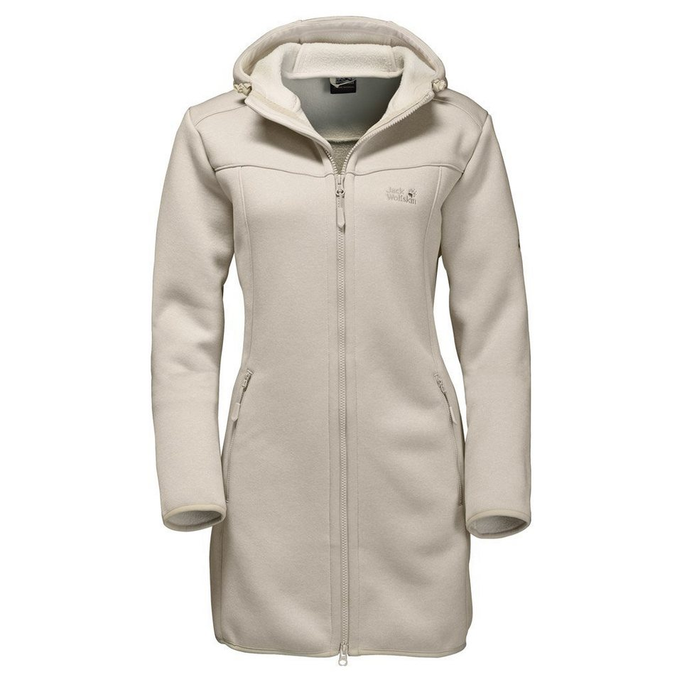Jack Wolfskin Fleecemantel »TERRA NOVA COAT WOMEN« in light sand