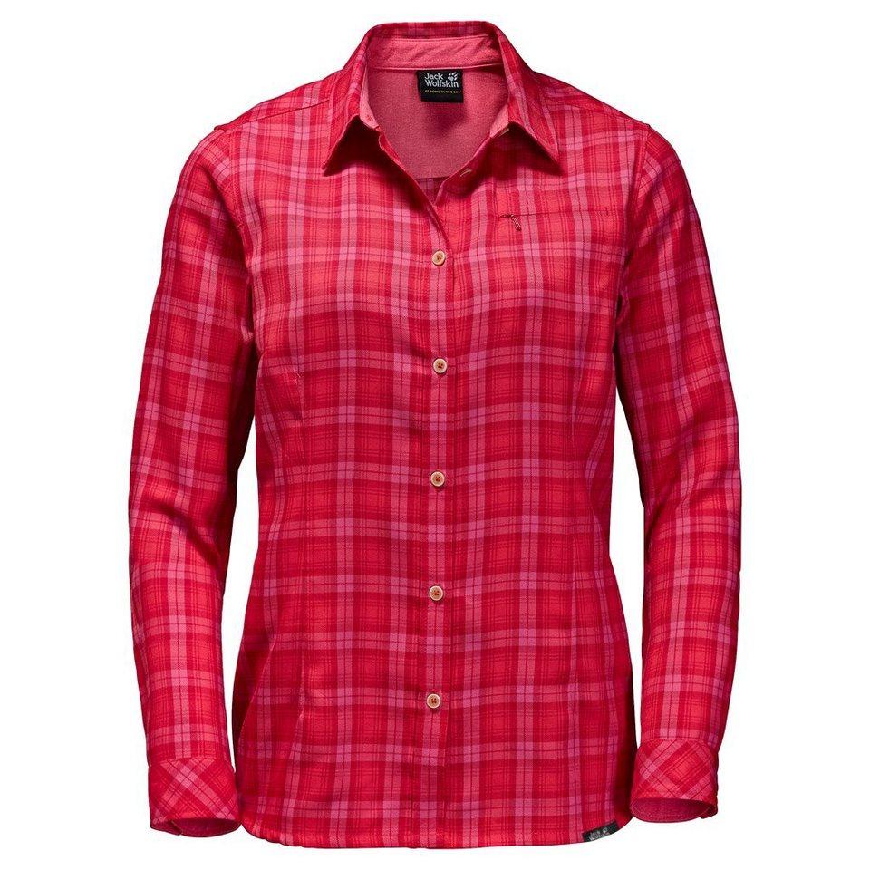 Jack Wolfskin Outdoorbluse »DORSET SHIRT« in hibiscus red checks