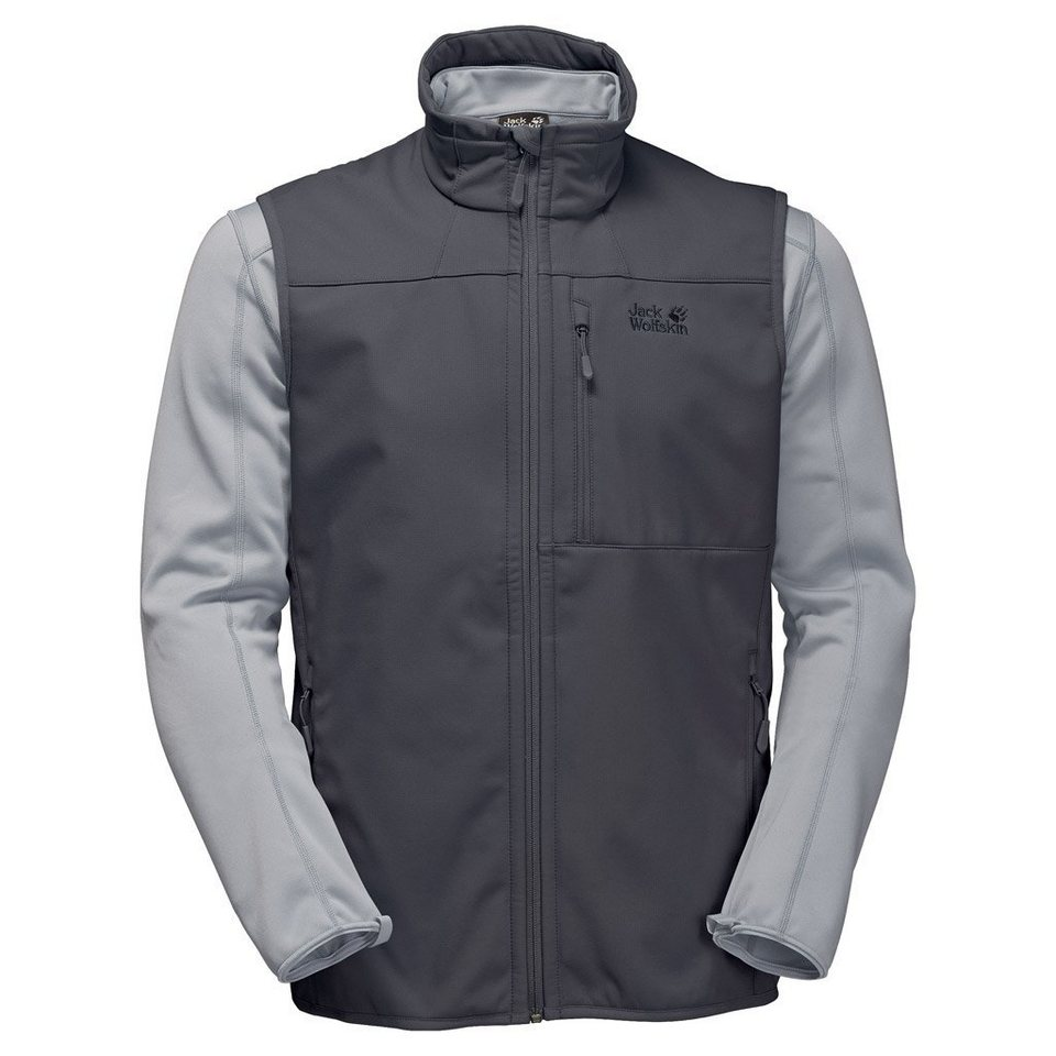 Jack Wolfskin Weste mit Fleecejacke 3 in 1 »ROLLER COASTER MEN« 2 teilig in ebony