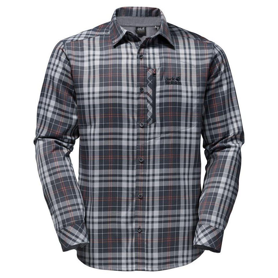 Jack Wolfskin Outdoorhemd »CHURCHILL SHIRT« in ebony checks