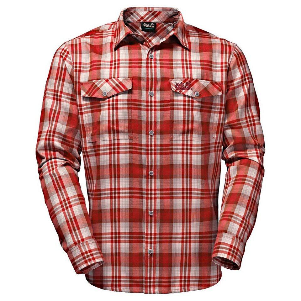 Jack Wolfskin Outdoorhemd »EVAN SHIRT MEN« in indian red checks
