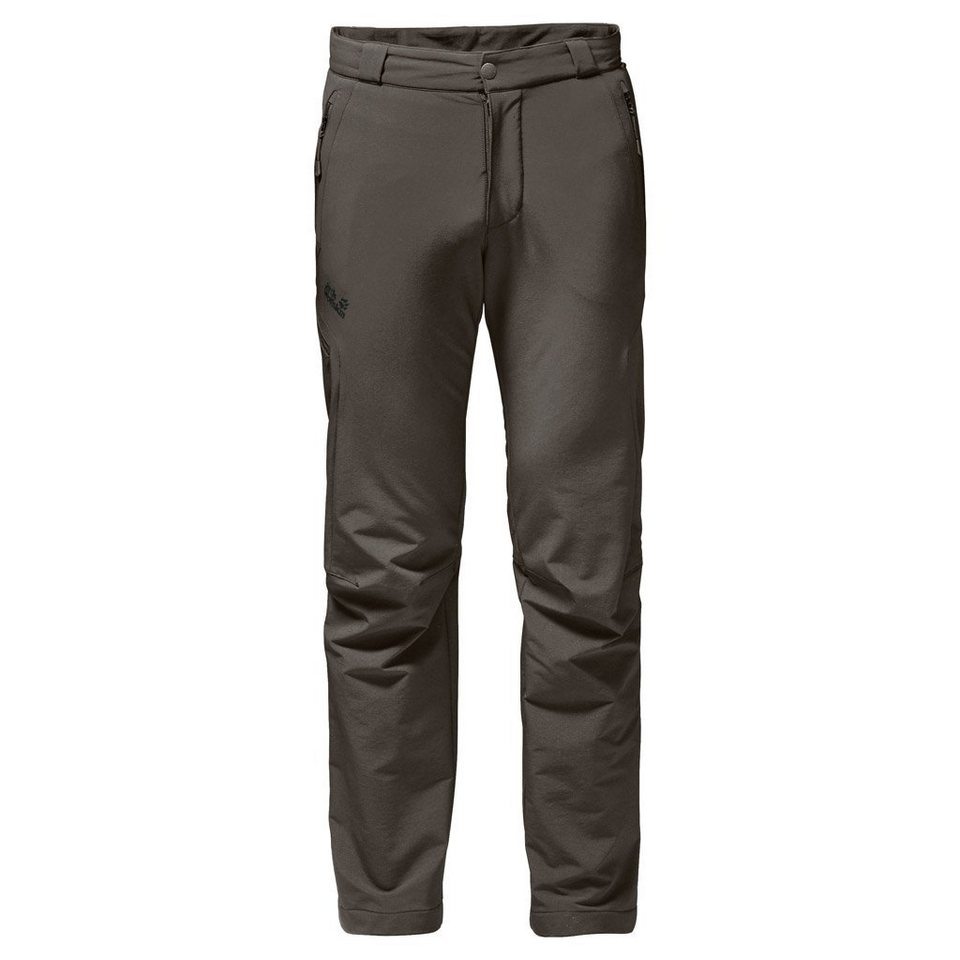 Jack Wolfskin Outdoorhose »ACTIVATE THERMIC PANTS MEN« in olive brown