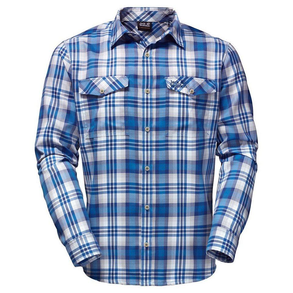 Jack Wolfskin Outdoorhemd »EVAN SHIRT MEN« in brilliant blue check