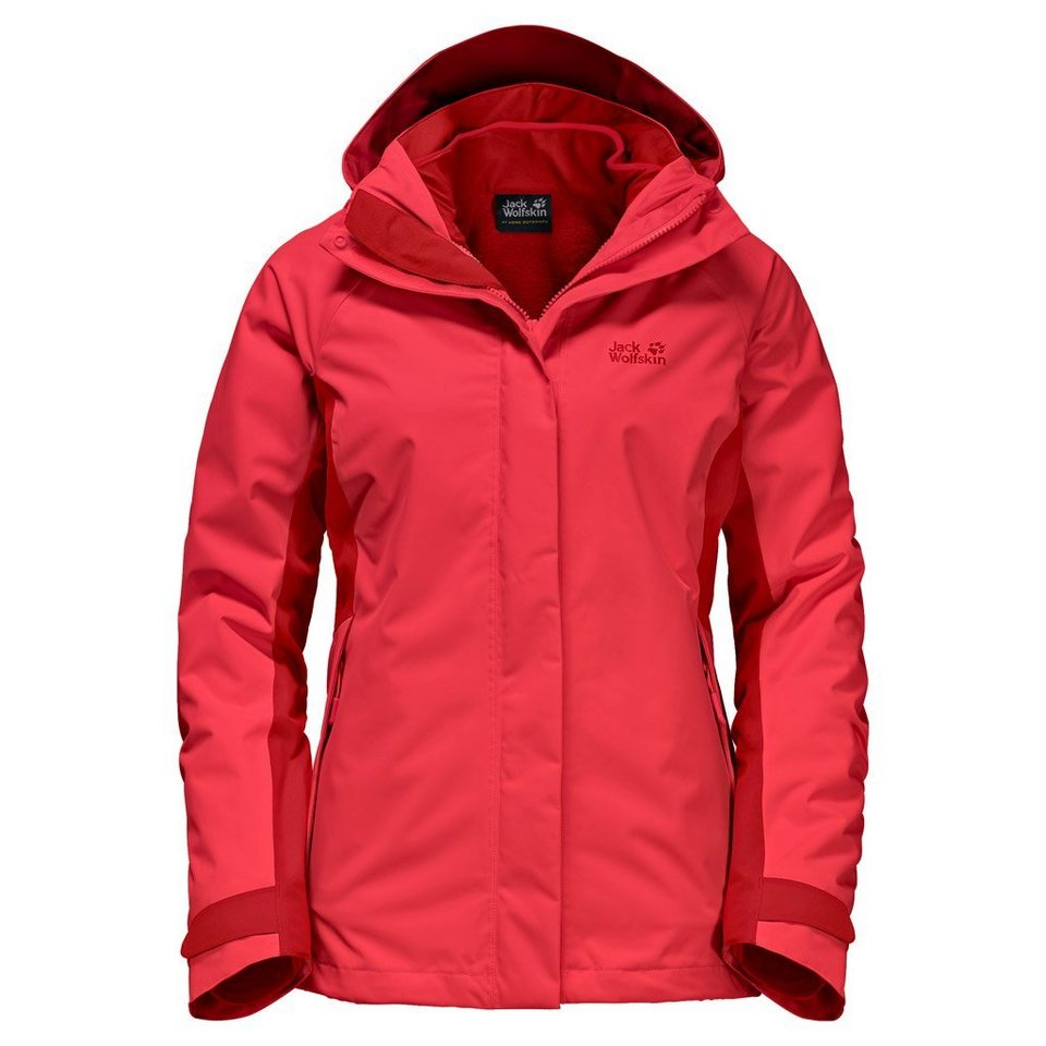 Jack Wolfskin Outdoorjacke »ICELAND VOYAGE 3IN1 WOMEN« 2 teilig in hibiscus red