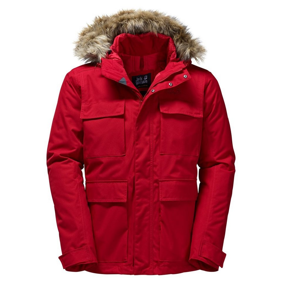 Jack Wolfskin Outdoorjacke »POINT BARROW« in indian red