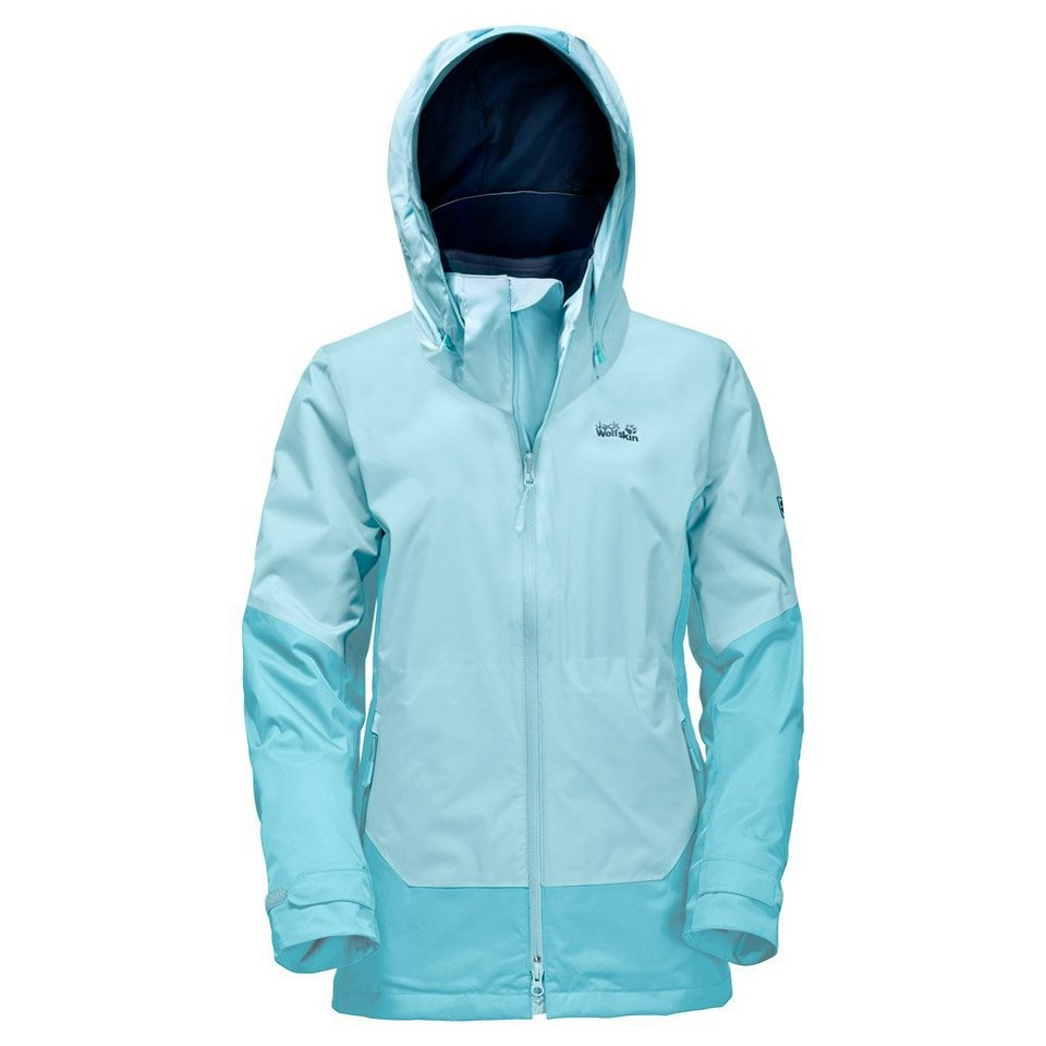 Jack Wolfskin Outdoorjacke »DISCOVERY COVE WOMEN« 2 teilig in mineral blue