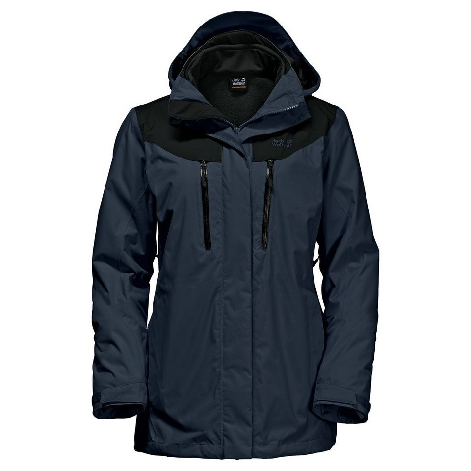 Jack Wolfskin Outdoorjacke »JASPER 3IN1 WOMEN« 2 teilig in night blue