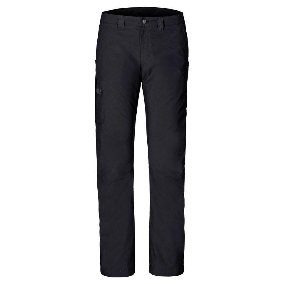 Jack Wolfskin Outdoorhose »RAINFALL PANTS MEN« in black