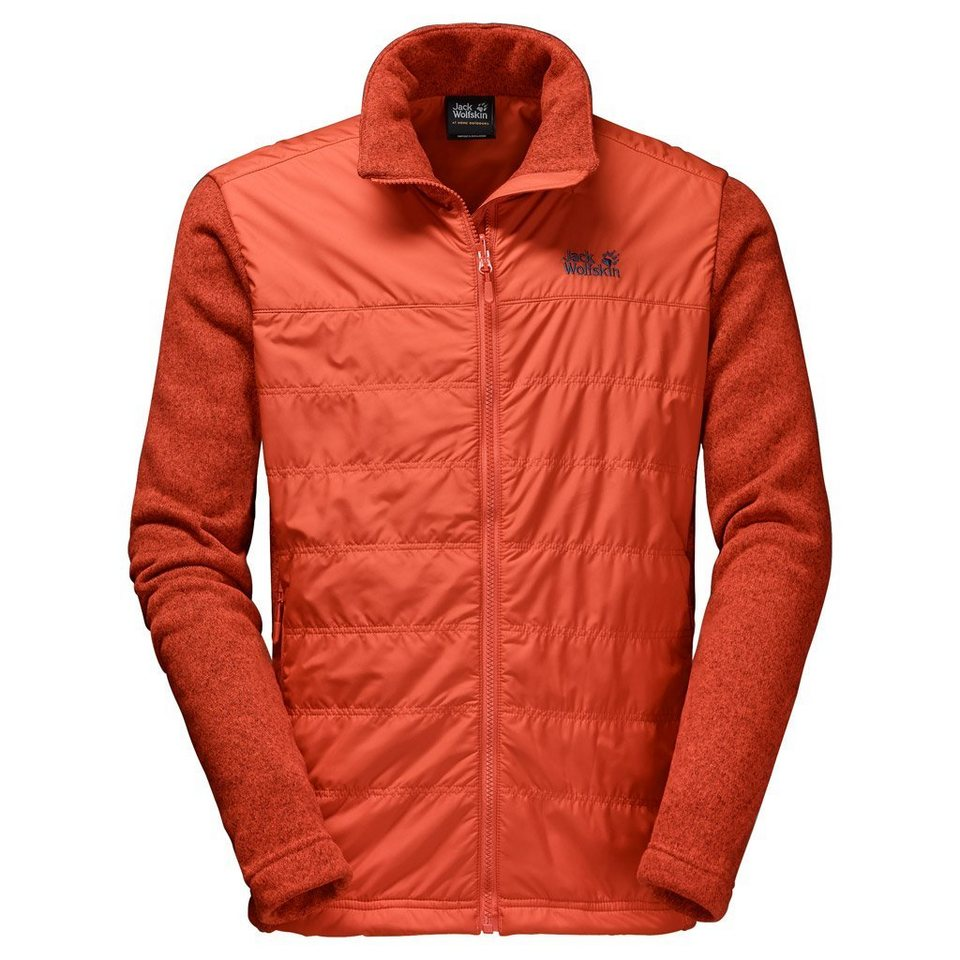 Jack Wolfskin Fleecejacke »CARIBOU CROSSING TRACK MEN« in dark satsuma