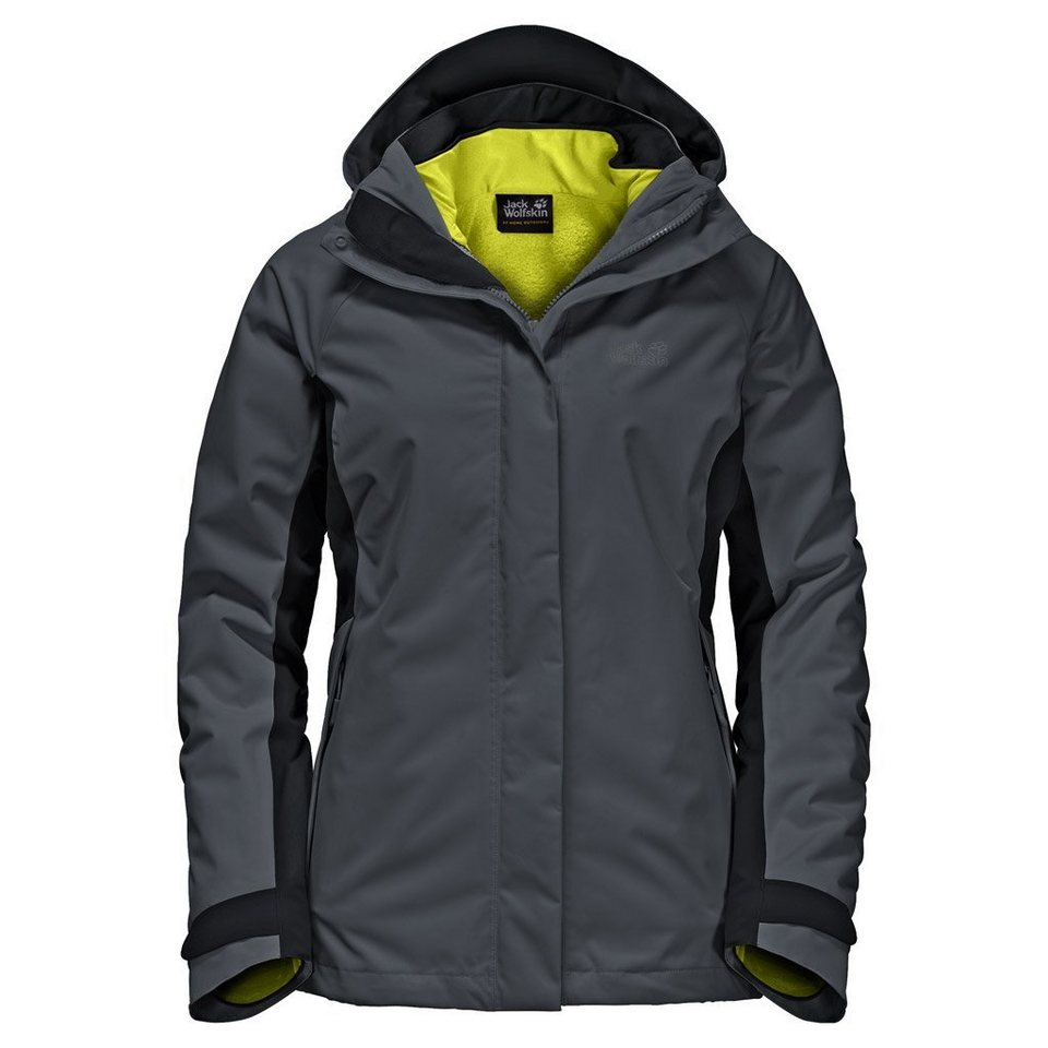 Jack Wolfskin Outdoorjacke »ICELAND VOYAGE 3IN1 WOMEN« 2 teilig in ebony