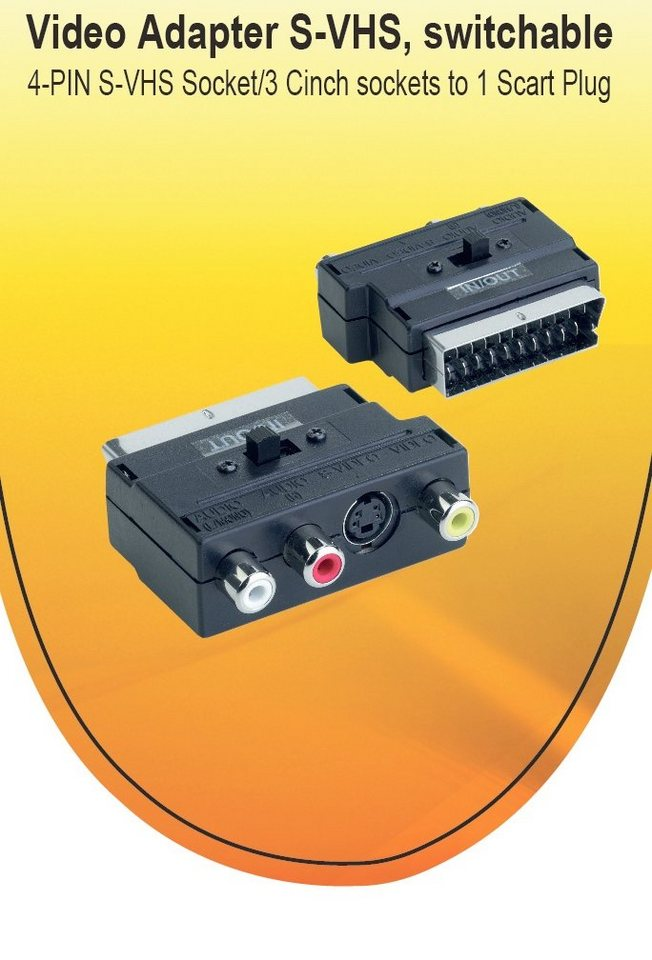 V7 TV/Video/Audio »V7 ADAPTER SCART/VIDEO BLACK«