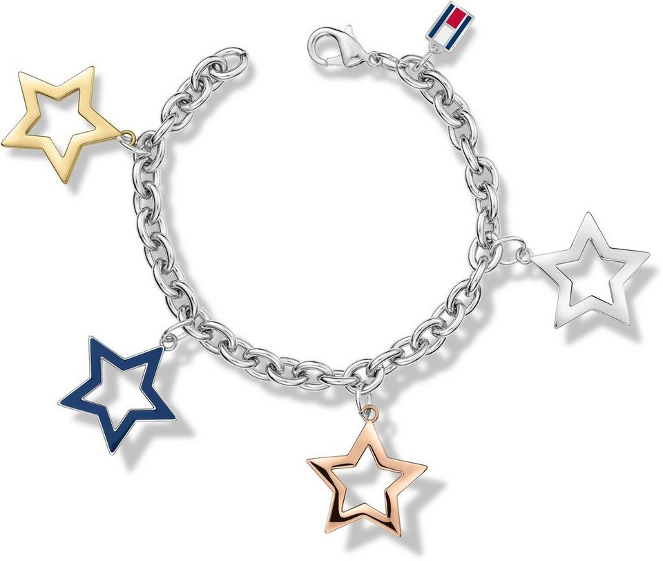 Tommy Hilfiger Armband, »Sterne, Classic Signatur, 2700890« in tricolor-blau