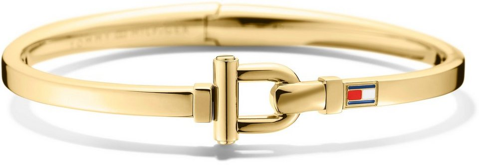 Tommy Hilfiger Armreif, »Classic Signatur, 2700829« in goldfarben