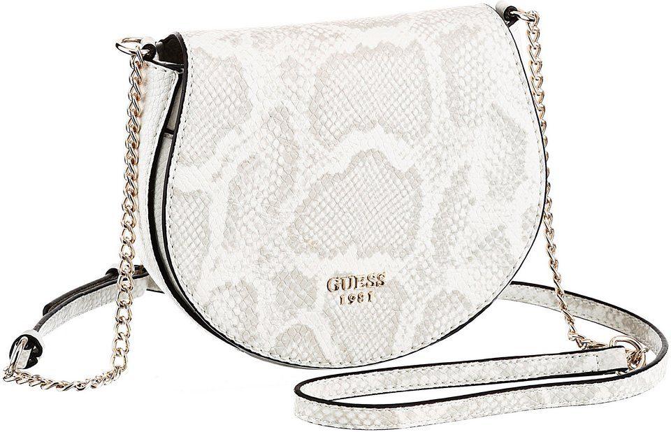 Guess Umhängetasche »CATE MINI«, Mini Bag mit schönem Ketteneinsatz