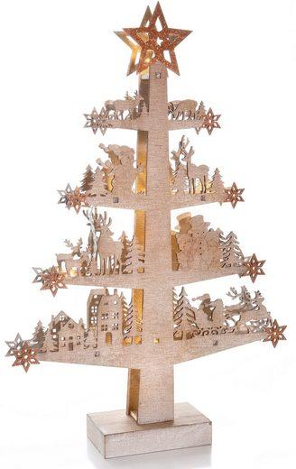 CHRISTMAS GOODS by Inge LED Baum, 10-flammig, batteriebetrieben