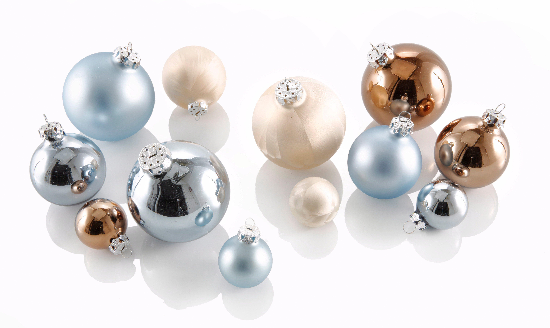 Thüringer Glasdesign TGS-Weihnachtskugeln, (40-teilig), »Sky«