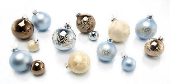 Thüringer Glasdesign Weihnachtsbaumkugel »Sky« (30 Stück), mundgeblasen
