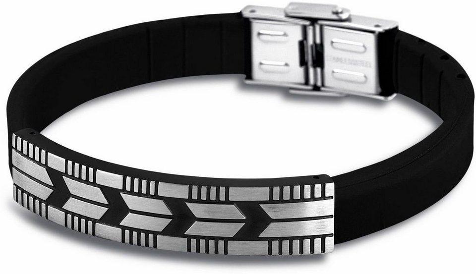 Lotus Style Armband »Armband, Men in Black, LS 1729-2/2« in silberfarben-schwarz