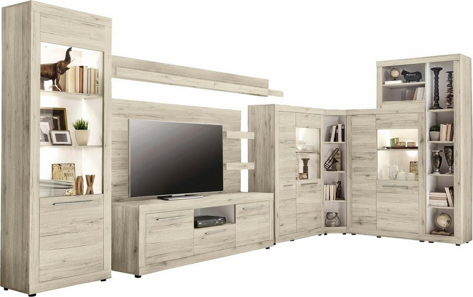 wohnwand 9 tlg online kaufen otto. Black Bedroom Furniture Sets. Home Design Ideas