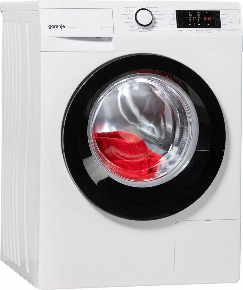 gorenje waschmaschine w8 6eco a 8 kg 1600 u min online kaufen otto. Black Bedroom Furniture Sets. Home Design Ideas