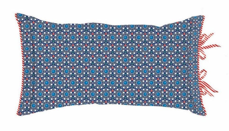 Dekokissen, PiP Studio, »Buttons up«, mit Ornamenten in blau