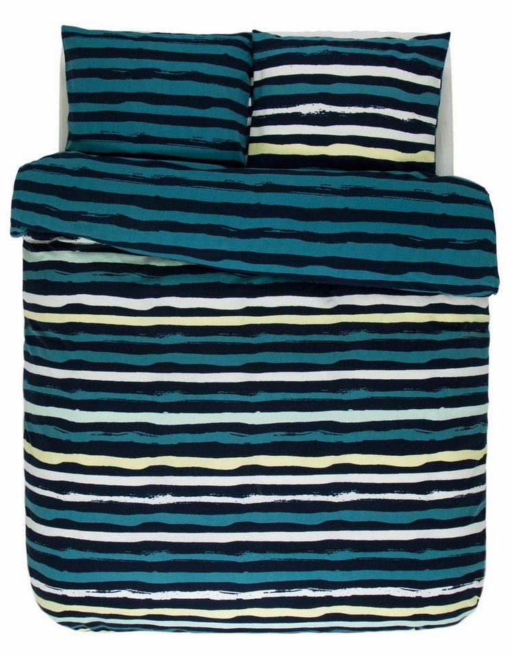 Wendebettwäsche, Esprit, »Laure«, mit Streifen in blau