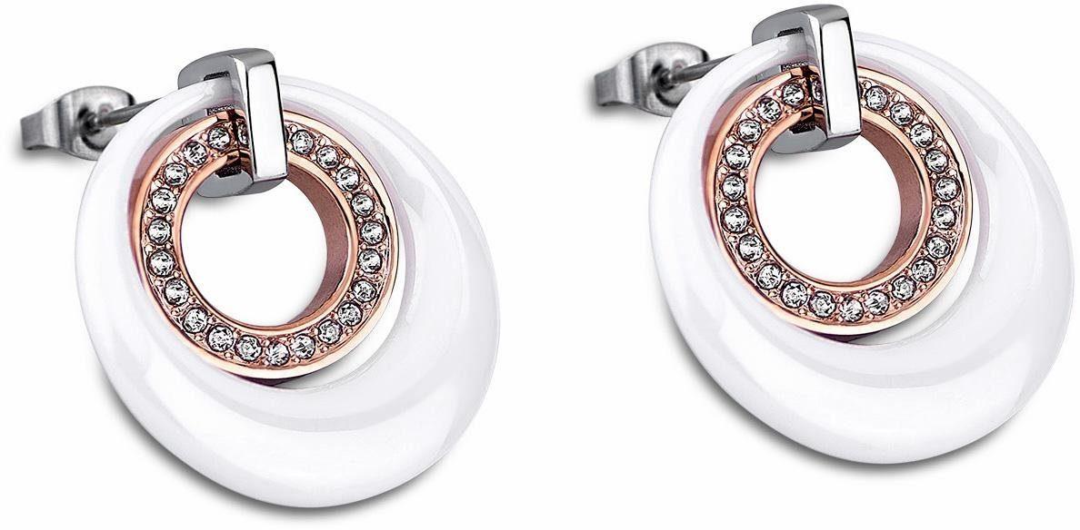 Lotus Style Paar Ohrstecker »Ceramic, LS1704-4/2«, mit Glassteinen