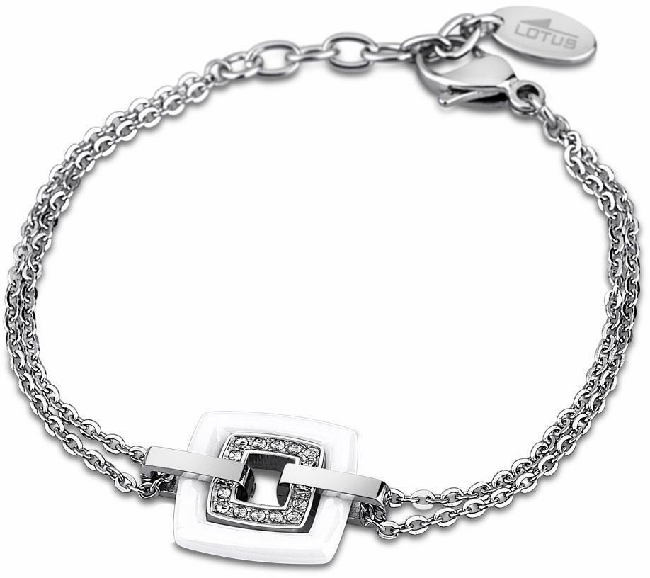 Lotus Style Armband »Armband, Ceramic, LS1705-2/1« mit Glassteinen in silberfarben