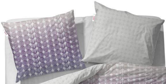 Kissenbezug, Esprit, »Joss«, mit kleinen Kreisen in grau-violett