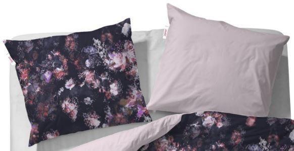 Kissenbezug, Esprit, »Miracle«, mit abstrakten Blumen in anthrazit-rose