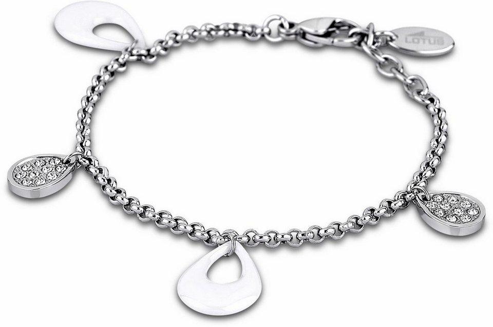 Lotus Style Armband »Armband, Ceramic, LS1706-2/1« mit Glassteinen in silberfarben