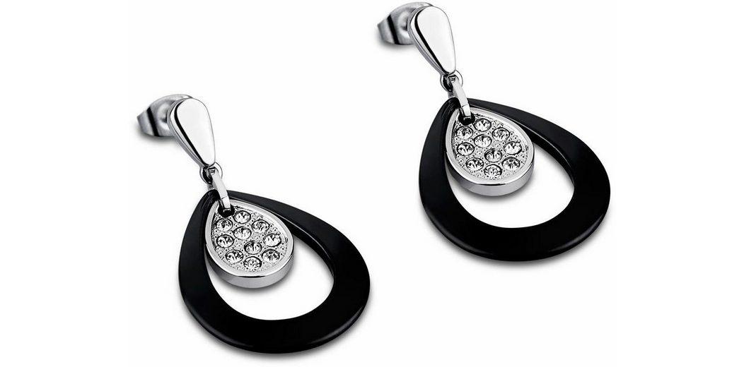 Lotus Style Paar Ohrstecker »Paar Ohrstecker, Ceramic, LS1706-4/2« mit Glassteinen